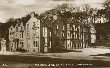 Postcard of The Royal Hotel, Bridge of Allan